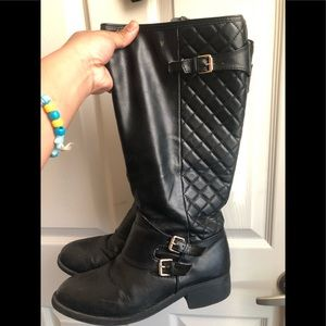 Shoes - Black and Gold Riding/Winter Boots